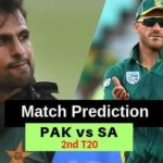 South Africa vs Pakistan 2nd T20 Prediction