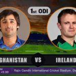 Afghanistan Vs Ireland 1st ODI Prediction