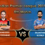 Sunrisers Hyderabad Vs Rajasthan Royals Prediction