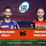 Kolkata Knight Riders vs Sunrisers Hyderabad Prediction