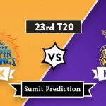 Chennai Super Kings vs Kolkata Knight Riders Prediction