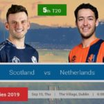 Scotland Vs Netherlands 5th T20 Prediction