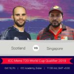 Scotland Vs Singapore 1st T20 Prediction