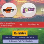 Nelson Mandela Bay Giants vs Paarl Rocks Prediction