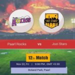 MSL Paarl Rocks vs Jozi Stars T20 Prediction