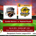 Cumilla Warriors Vs Rajshahi Royals T20 Prediction