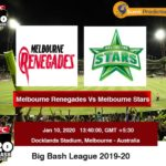 Melbourne Renegades vs Melbourne Stars T20 Prediction