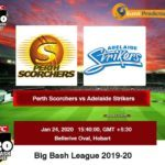 Perth Scorchers vs Adelaide Strikers BBL Prediction