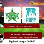 Melbourne Stars vs Brisbane Heat BBL Prediction