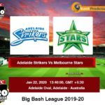 Adelaide Strikers vs Melbourne Stars BBL Prediction