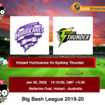 Hobart Hurricanes Vs Sydney Thunder BBL Prediction