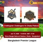 Chattogram Challengers vs Dhaka Platoon Eliminator Prediction
