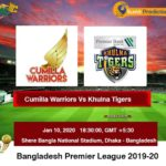 Cumilla Warriors vs Khulna Tigers T20 Prediction