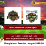 DHAKA PLATOON VS KHULNA TIGERS 42ND MATCH PREDICTION