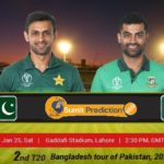 Pakistan Vs Bangladesh 2nd T20 Prediction