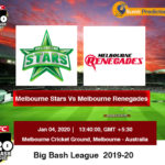 Melbourne Stars vs Melbourne Renegades T20 Prediction