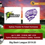 Sydney Thunder Vs Hobart Hurricanes T20 Prediction