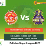 Islamabad United vs Quetta Gladiators 1st Match Prediction