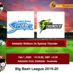 Adelaide Strikers vs Sydney Thunder Knockout Prediction
