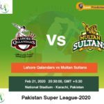 Lahore Qalandars vs Multan Sultans 3rd Match Prediction
