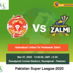 Islamabad United vs Peshawar Zalmi 20th Match Prediction