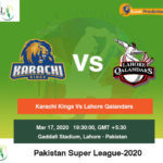 Karachi Kings vs Lahore Qalandars 2nd Semi Final